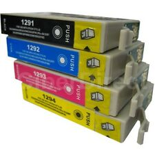 4 CiberDirect T1291 T1292 T1293 T1294 Ink Cartridges to fit Epson Printers