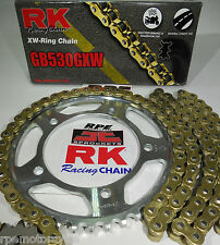 HONDA CBR929 CBR954 RK GXW GOLD ULTIMATE STRENGTH GOLD CHAIN AND SPROCKETS KIT
