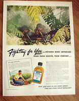 1943 Skat Ad WW II Theme Soldiers Machine Guns 1943 Ad Roblee Shoes