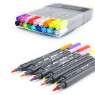 Art Graphic Drawing Twin Tip Brush Sketch Water Color Marker Pen 12/18/24 Colors