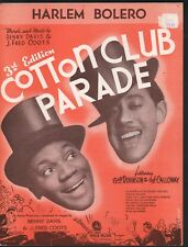 Harlem Bolero Bill Bojangles Robinson Cab CallowayCotton Club Parade Sheet Music