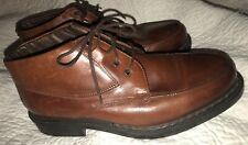 Men's Bacco Bucci Italian Brown Ankle Leather Italy Boots Size 8.5
