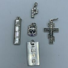 Solid 925 Sterling Silver Job Lot of 5 Pendants L104