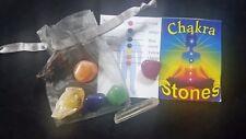 Set of 7 Chakra Stones New in Organza Bag Healing Crystals & Gemstone eBays Best