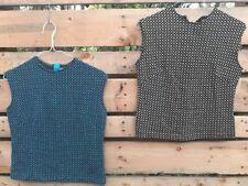Vintage Pair Cali Koret Jr.? Women's SIze Medium Shirt Tops Wear Repair Zip Back