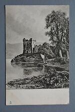 R&L Postcard: Scotland, Loch Ness Urquhart Castle, Early Tuck, 1903