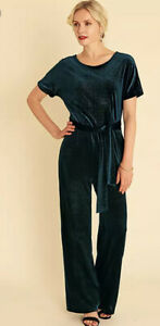 Pomodoro Green Teal Sparkle Jumpsuit Size 16 New Without Tag