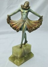 More details for unsigned art deco bronze (not spelter) dancing lady figure like lorenzl c 1930