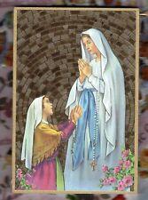 """Our Lady of Lourdes - Gold Foil Mosaic Plaque (4"""" x 6"""")"""