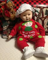 Vintage 1986 Boy Baby Doll Hand Made Ceramic Size 24 Inches