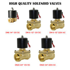 2 Way Solenoid Valve Air Water N/C Gas Oil Alloy Normally Closed 12v 240v BSP