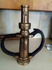 vintage larkin brass fire nozzle 14 12 inch