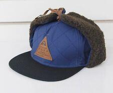 New Neff Trap Earflap Flat Brim Cap Blue One Size