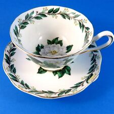 White Magnolia Royal Albert Lady Clare Tea Cup and Saucer Set