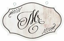 Lillian Rose White Mr. Vintage Wedding Chair Sign Home Decor