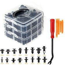 625Pcs Car Plastic Rivets Fastener Fender Bumper Push Pin Clip W/ Remover Tool