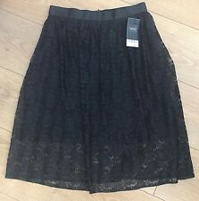 Next Ladies Black Lace Skirt Size 6 RRP £40 BNWT