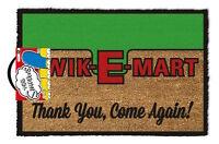 Official The Simpsons Kwik-E-Mart Logo Doormat - 100% Coir Rubber Back Door Mat