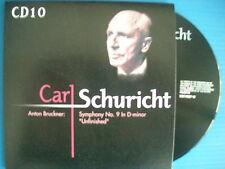 """CD CARL SCHURICHT ANTON BRUCKNER SYMPHONY N°9 IN D MINOR """" UNFINISHED"""""""