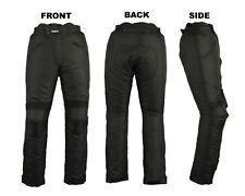 Mens Waterproof Motorcycle Motorbike Textile Trouser Cordura Pant Black 2291 LRG
