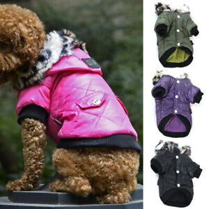 Winter Hooded Down Coat Pet Dogs Puppy Thermal Jacket Warm Winter Apparel Vest
