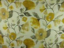 Harlequin Lisanne Fabric Remnant Off cut Curtain Linen Yellow Gold Grey 80cm