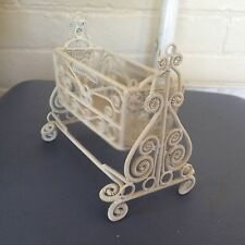 Wrought iron cradle-doll house size (#4)