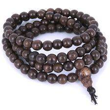 Mala Bracelet/Necklace 6.5mm Vietnam Red Agarwood Meditation 108 Beads 紅沙沉香