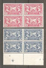 TIMBRE FRANCE FRANKREICH 1927 N°244/245 NEUF** MNH BLOC DE 4