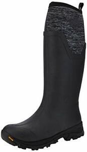 Muck Boot Women's Arctic Ice Tall Snow Boot, Black/Heather Jersey, 9 Regular US
