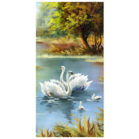 DIY 5D Diamond Painting Embroidery Cross Crafts Stitch Kit Decor(Swan Lake) M8T8
