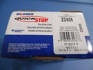 WAGNER ZD698 DISC BRAKE PAD ZD 698 BUICK CHEVROLET OLDSMOBILE PONTIAC