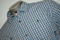 10614-a Mens The North Face Shirt Size Large Blue Plaids VENTED