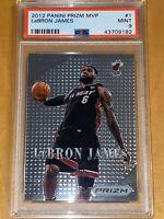 💎POP 4 2012 LeBron James PANINI PRIZM MVP #1 PSA 9 BGS LBJ's FIRST Prizm lakers