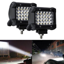 2Pcs 4In 72W Led Work Light Bar Spot Flood Cube Offroad Truck Lamp for Car