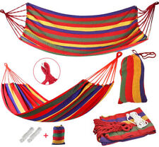 Portable Brazilian Hammock Camping SUMMER Cotton Rope Swing Bed Canvas with BAG