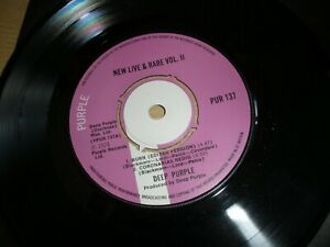 """Deep Purple New Live & Rare Volume 2 7"""" Single 1974 PUR 137 Burn Mistreated"""