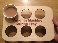 wooden cup holder, vending machine drinks tray (free personalisation)
