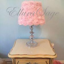 Shabby Chic Rosette Lamp Shade Shabby Chic Nursery Decor by Ellura Sage