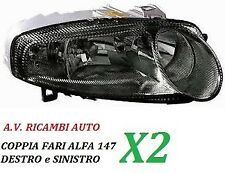 COPPIA FARI FANALE PROIETTORE ANTERIORE DX - SX ALFA ROMEO 147 DAL 2000 AL 2004