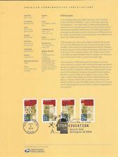 #1811 (50c) Forever STEM Education #5276-#5279 Souvenir Page