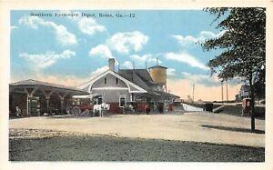 H41/ Rome Georgia Postcard c1910 Southern Railroad Passenger Depot