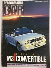 Performance Car February 1989 BMW M3 E30 Convertible Sierra Sapphire Cosworth