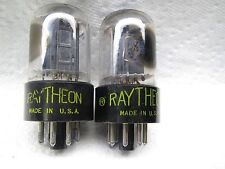 RAYTHEON 6SN7 GTB   WELL-BALANCED gm & Ip PLATINUM MATCHED PAIR