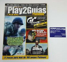Play manía 2 Guías Platinum, Moh frontline, Gt 3, Splinter Cell, The Getaway. Ps