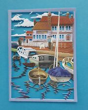 Die Cut Tattered Lace Cool Sea Air Scene Card Toppers  Frame Boats