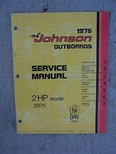 1975 Johnson Outboard Motor 2 HP Model 2R75 Service Manual Marine Boat Engine R