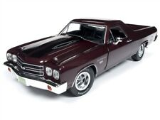 1970 CHEVROLET EL CAMINO BLACK CHERRY 1/18 SCALE DIECAST BY AUTO WORLD AMM1161