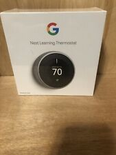 New ListingGoogle Nest Learning Thermostat 3rd Gen S/Steel Brand New In Sealed Box
