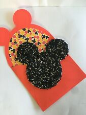 Disney's Mickey Mouse Birthday Card by Papyrus ~ Glass Seed Beads Mickey Head